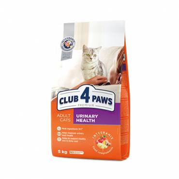 "CLUB 4 PAWS Premium ""URINARY HEALTH"". Сomplete dry pet food for adult cats"