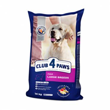 CLUB 4 PAWS Premium for LARGE breeds. Сomplete dry pet food for adult dogs