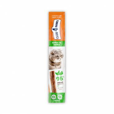 CLUB 4 PAWS Premium meaty stick: CHICKEN. High in DUCK . Complementary pet food for cats