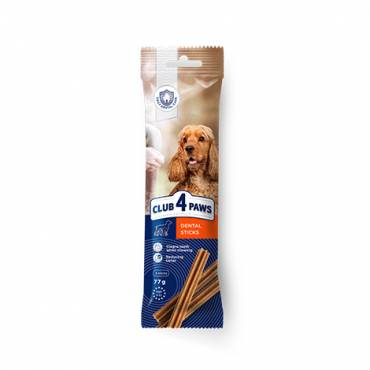 CLUB 4 PAWS PREMIUM DENTAL STICKS. COMPLEMENTARY PET FOOD FOR ADULT DOGS